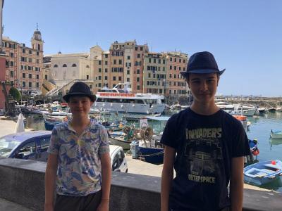 Leo and Max in Camogli